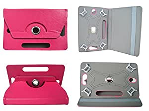 TOTTA Rotator Tab Book Cover For iberry Auxus AX04- PINK