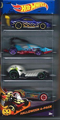 Hot Wheels 2013 Halloween Cars Target Exclusive 4 Pack Scary Cars