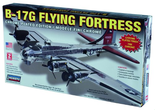 Lindberg 1:64 scale B-17 Flying Fortress (chrome finish)