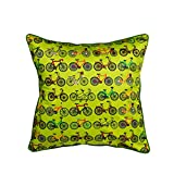 The Crazy Me Retro Cycle Cushion Cover(16 By 16 Inch)