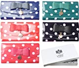 Girly HandBags Polka Dot Patent Ladies Purse Glossy Bow Wallet OilCloth Boxed Gift Designer