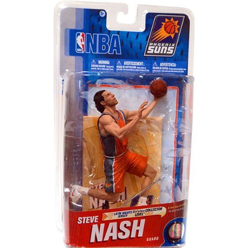 McFarlane Toys NBA Sports Picks Series 19 Action Figure Steve Nash (Phoenix Suns) Latin Nights Los Suns Jersey Gold Collector Level Chase (Steve Nash Action Figure compare prices)