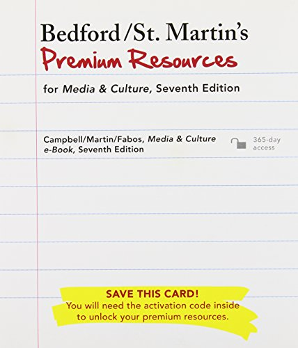 Media and Culture 7th Ed + pass code + I-clicker