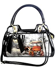 DI GRAZIA 3D Design(Exclusive, 1st Time In India), PU Leather Shoulder Sling Womens Satchel Handbag With Bow Charm...