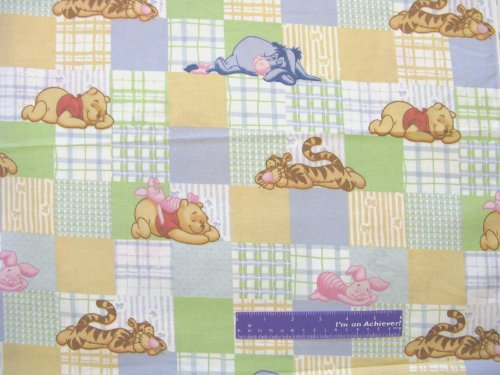 """43"""" Winnie The Pooh Hunny Patch Cotton Fabric By The Half Yard front-15651"""