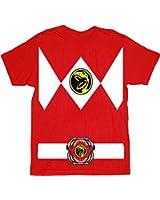 Power Rangers Red Ranger Costume Red T-Shirt Tee