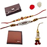 Combo Of Purse And Rakhi For Bhai And Bhabhi.,Unique Rakhi Set For Brother With Rakhi Gift Roli Chawal Rakshabandhan Special,Rakhi For Brother,Rakhi For Brother With Gift Combo,Rakhi For Brother And Bhabhi Combo,Rakhi For Bhabhi