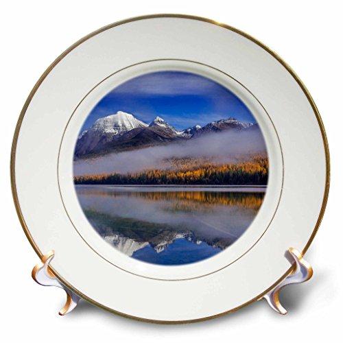 Danita Delimont - Glacier National Park - Rainbow Peak and Bowman Lake, Glacier National Park, Montana - 8 inch Porcelain Plate (cp_231073_1)
