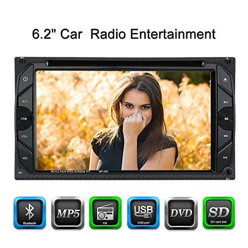 KKmoon-62-Zoll-2-Din-Universal-HD-Auto-StereoDVD-SpielerFM-RadioBluetooth-Funk-Entertainment-Touch-Screen-mit-USB-Anschluss