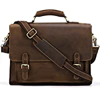 Kattee Real Leather Shoulder Briefcase, 15.7 Laptop Tote Bag by Kattee