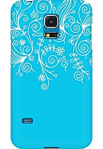 AMEZ designer printed 3d premium high quality back case cover for Samsung Galaxy S5 Mini (sky blue white design pattern abstract)