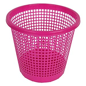 New Brights Plastic Waste Paper Trash Basket Bathroom