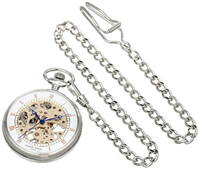 Charles-Hubert Pocket Watch 3801 Chrome Plated Open Face