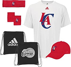 Los Angeles Clippers Adidas NBA To the Court 5-Piece Shirt Hat Combo Pack by adidas