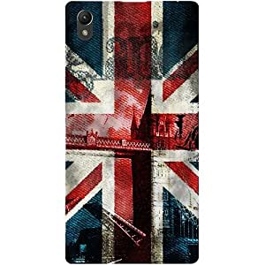 Casotec London Flag wallpaper Design Hard Back Case Cover for Sony Xperia Z1 L39H