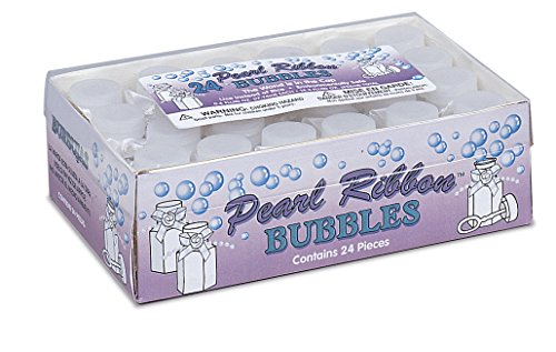 Pearl Ribbon Wedding Bubbles, 24ct - 1