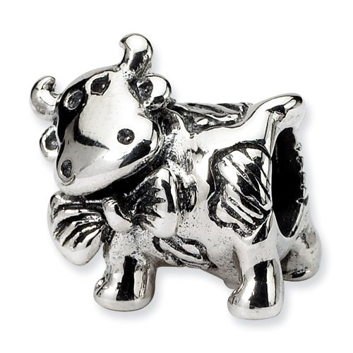 Sterling Silver Dairy Cow Bead