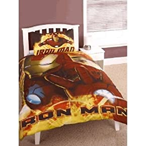 Childrens/Kids Iron Man Bedding Duvet Cover Set