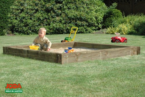 "JODA massive Sandkiste ""Bob"" 212x212cm Sandkasten Sandbox Sand Garten Holz günstig"