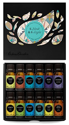 6) Synergy Blends and 6) Top Single Oils 100% Pure Therapeutic Grade Essential