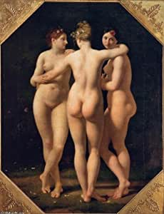 Oil on canvas - 18 x 24 inches / 46 x 61 CM - Jean Baptiste Regnault - The Three Graces (2)