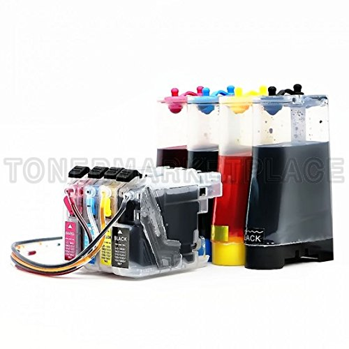 Inkuten © Ciss System For Brother Lc101 Lc103 Lc105 Lc107 Refill Ink Cartridges