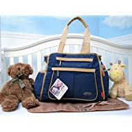 SoHo Collection, NY Gramercy 3 pieces Diaper Bag set *Limited time offer !* (Royal Navy)