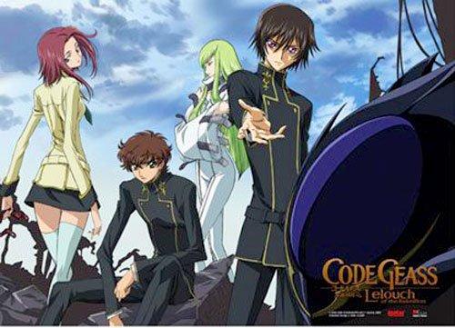 Code Geass: Lelouch, Suzaku,CC, and Kallen Anime Wall Scroll