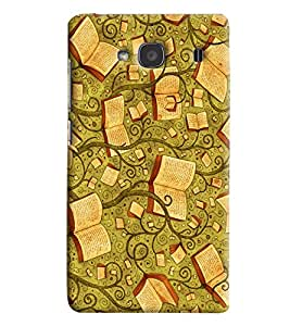 Blue Throat Tree Books Pattern Hard Plastic Printed Back Cover/Case For Xiaomi Redmi 2s