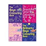 Colouring Book Collection Set By Jessie Eckel,(Activity Books) (The Brilliant Boys' Colouring Book, The Brilliant Boys' Colouring Book, The Beautiful Girls' Colouring Book & The Gorgeous Girls' Colouring Book) Jessie Eckel