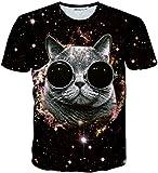 (ピゾフ)Pizoff メンズ Tシャツ 半袖 おもしろ 3Dプリント 猫柄 立体的 カジュアル トップスY1730-Q8-S