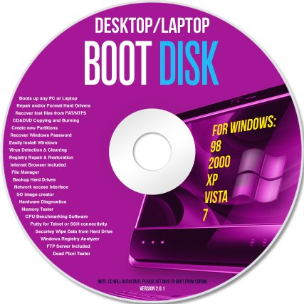 Advanced Boot Utilities Disc Disk Cd System -
