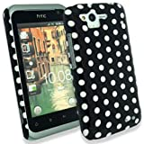 JJOnline Polka Dots - Hard Shell Phone Case Cover For HTC Rhyme / Black