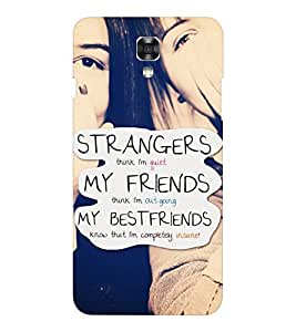 EPICCASE bestfriends know me Mobile Back Case Cover For LG X Power (Designer Case)