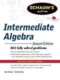 img - for Schaum's Outline of Intermediate Algebra, Second Edition (Schaum's Outlines) book / textbook / text book