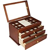 Real wood / Wooden Jewelry Box Case SI-1821B