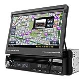 (D713GY)XTRONS 1DIN 7インチ カーナビ DVDプレーヤー 2014新入荷 8G観光地図カード付 ZENRIN るるぶDATA CD録音 Bluetooth iPod ラジオ USB SD