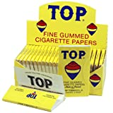 Top Rolling Papers - 70mm Single Wide Cigarette Papers - Full Box (24 Booklets)