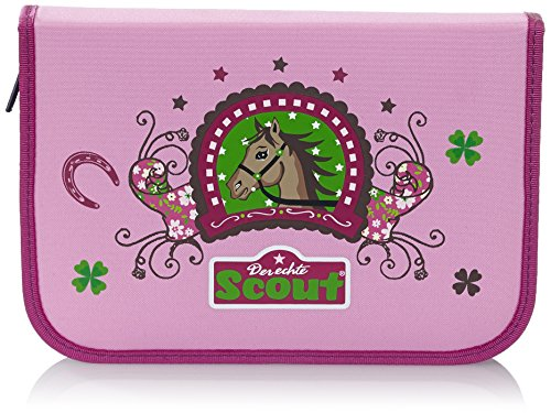 Scout Schulranzen-Set Etui 22 tlg Lucky Horse 20 cm Pink 66230070100