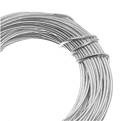Beadsmith 18-Gauge Aluminum Craft Wire, 39-Feet, Silver