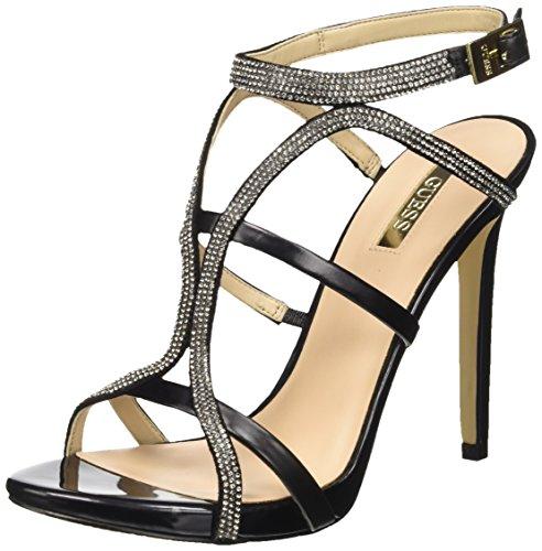 Guess Adalee3 Sue03 Sandali con cinturino alla caviglia, Donna, Nero, 38