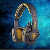SuperStore_Electronics(TM) SADES SA-708 3.5mm Stereo Headset Headphones Gaming Headset Stereo Headset Headband Sa-708 Pro Game Earphone Bass Headphones with Microphone for Pc Laptop Mobile (Yellow)