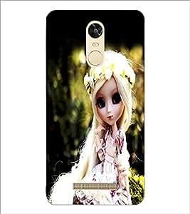 PrintDhaba Cute Doll D-1042 Back Case Cover for XIAOMI REDMI NOTE 3 MEDIATEK (Multi-Coloured)