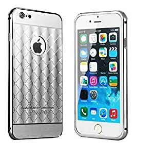 KARP Luxury Diamond Pattern Plaid Fundas Aluminum Metal Bumper + Glossy Acrylic Back Case For IPhone 6s [4.7''] (Green)
