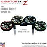 Abstract 02 Green Skin by WraptorSkinz fits Rock Band Drum Set for Nintendo Wii, XBOX 360, PS2 & PS3 (DRUMS NOT INCLUDED)