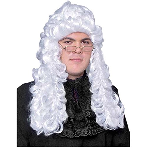 Adult Barrister Judge Costume Wig