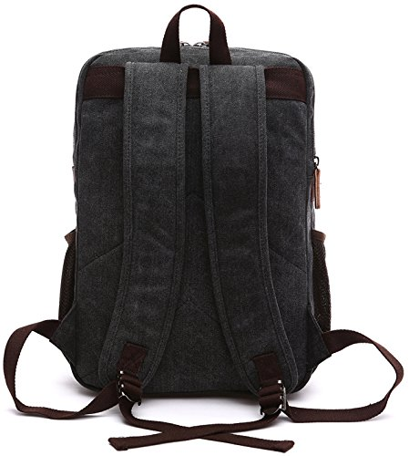 Kenox Mens Large Vintage Canvas Backpack School Laptop Bag Hiking Travel Rucksack 1