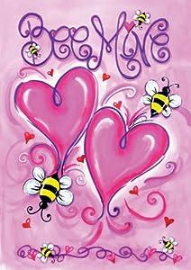 Toland Home Garden 112613 Bee Mine Decorative Garden Flag, 12.5 by 18-Inch