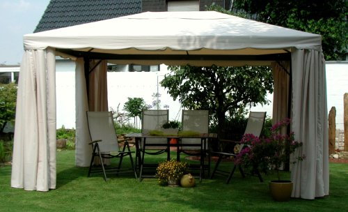 leco 17010103 pavillon sahara gr e 3 x 4 m inklusive seitenteile pavillon metall. Black Bedroom Furniture Sets. Home Design Ideas