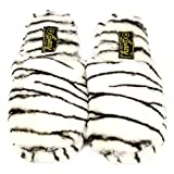 Animal Print Soft Cushion Indoor Outdoor Non Slip Sole Slippers Zebra L 9-10